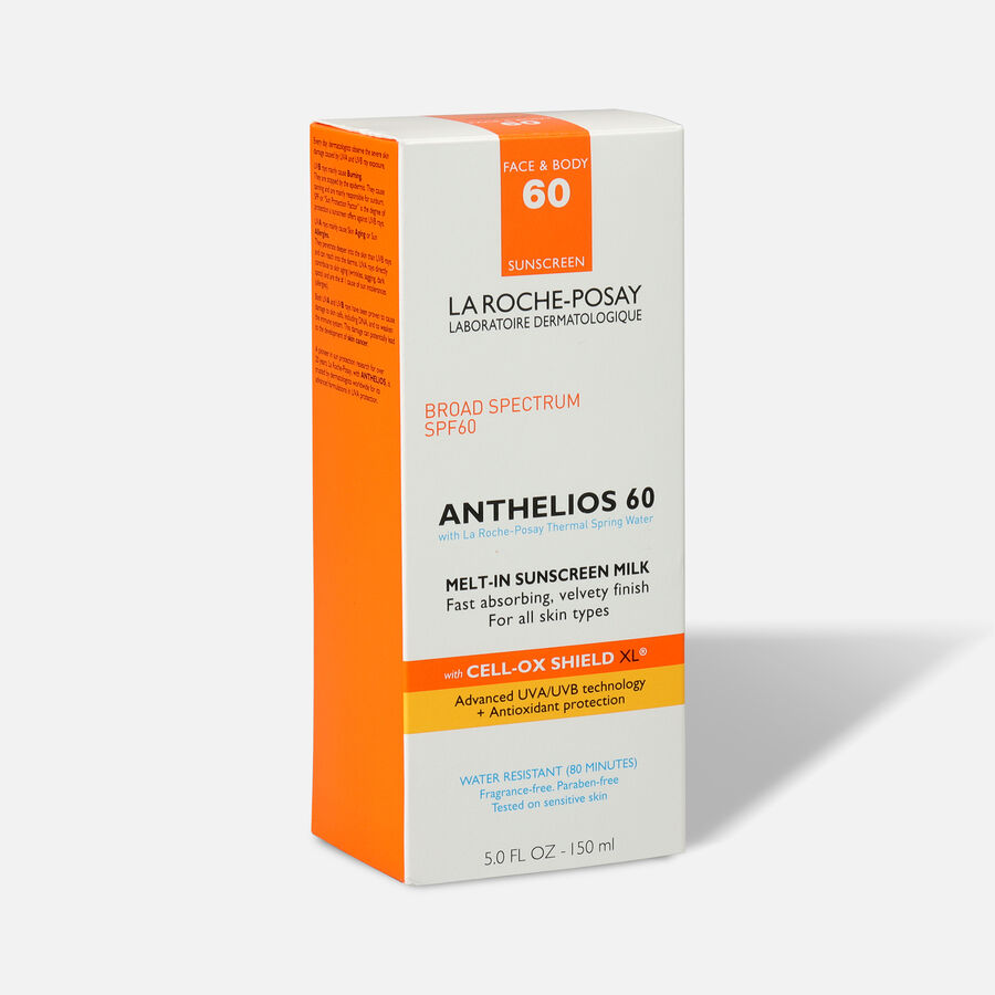 La Roche-Posay Anthelios 60 Body and Face Sunscreen Melt-In Milk Lotion, SPF 60 with Antioxidants, 5 Fl. Oz., , large image number 3