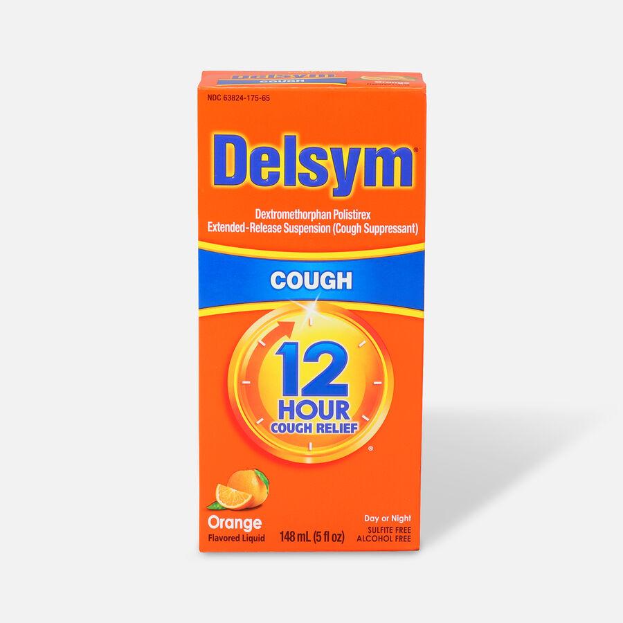 Delsym Adult Liquid, Orange with Dosage Cup, 5 oz, , large image number 0