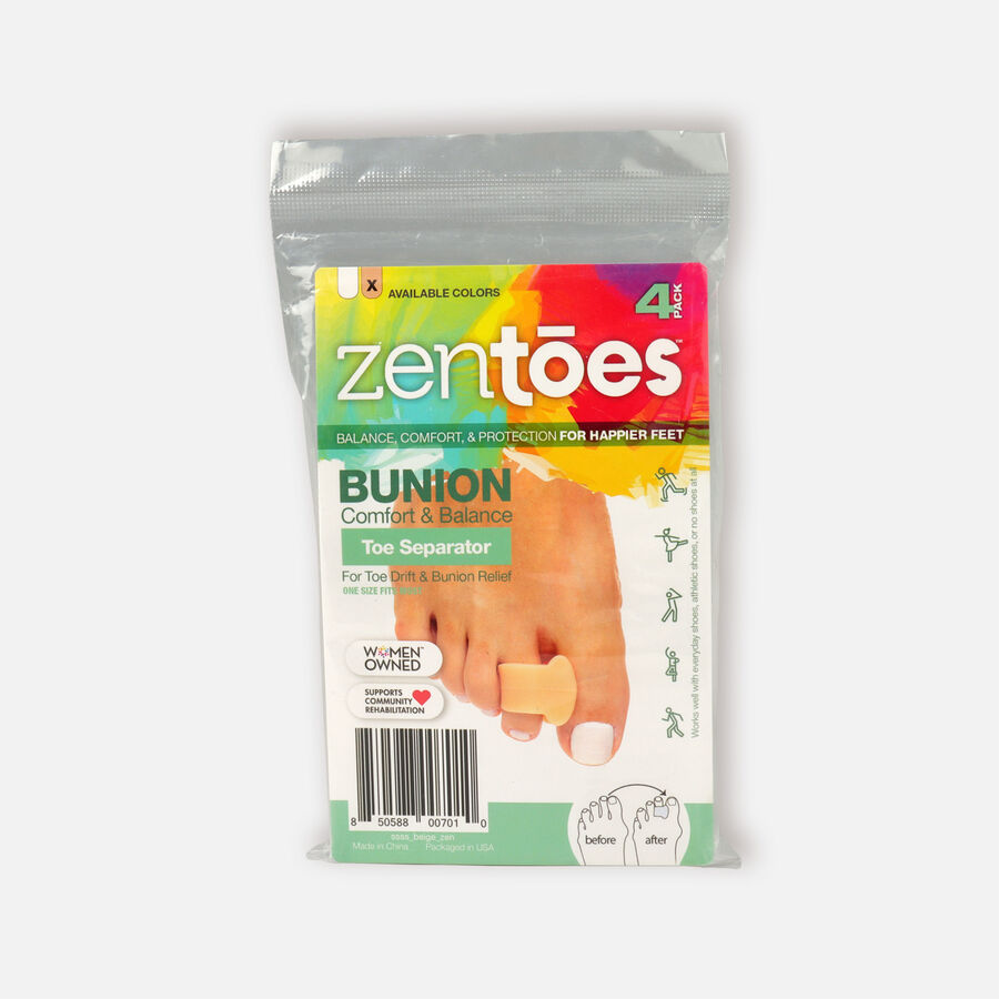 ZenToes Single Loop Toe Spacer for Bunions - 4 Pack, , large image number 0