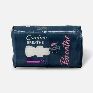Carefree Breathe Ultra Thin Overnight Pads with Wings, 24ct