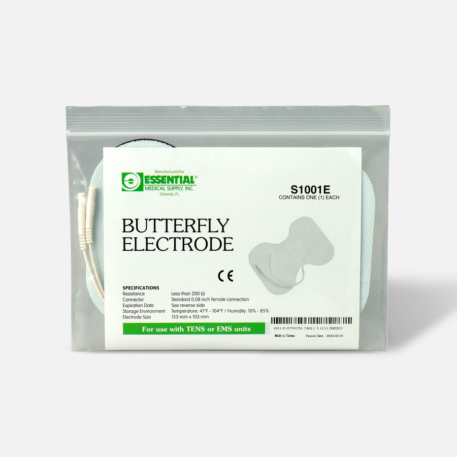 Essential Medical Supply Butterfly Electrode, , large image number 0