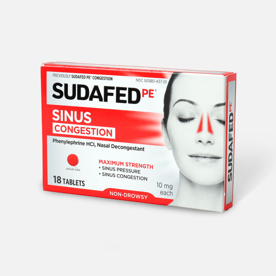 Sudafed PE Sinus Congestion Tablet, 18ct, , large image number 2