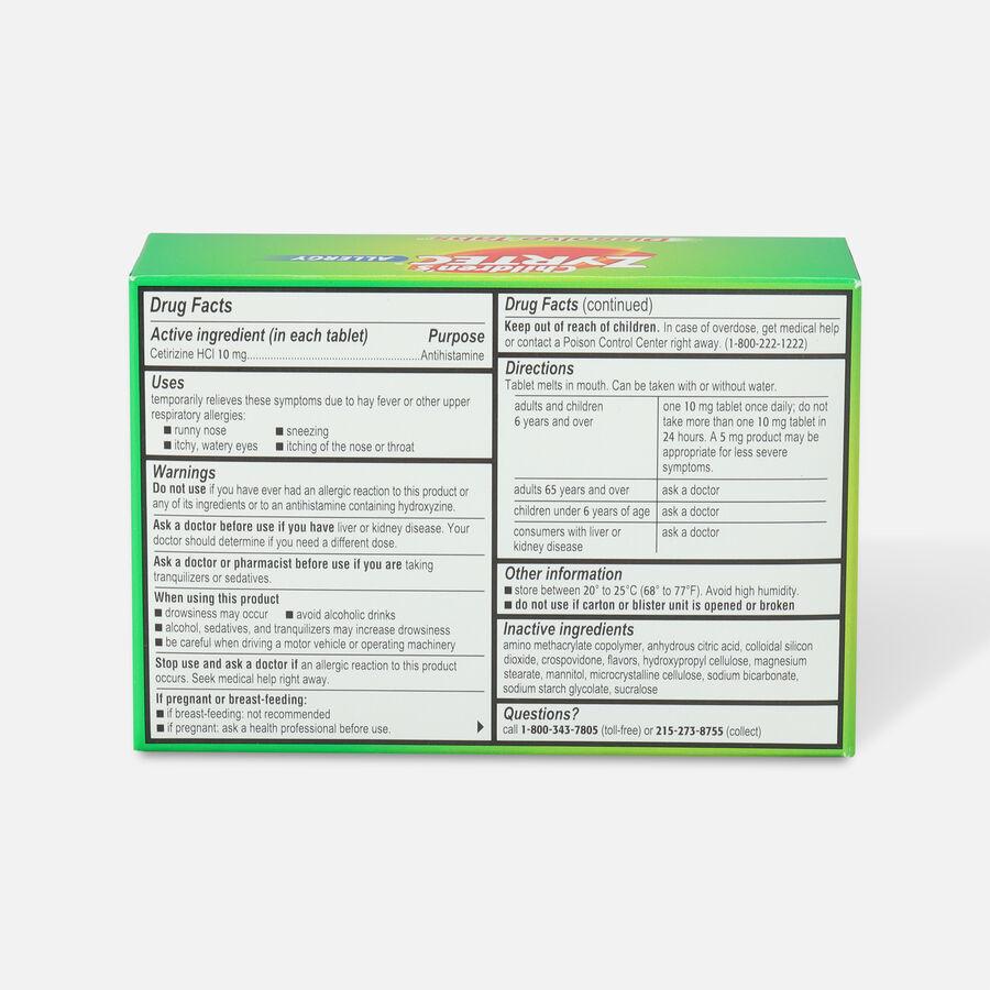 Children's Zyrtec 10mg Dissolve Tabs, Citrus Flavor, 24 ct, , large image number 1