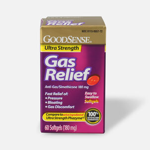 GoodSense® Gas Relief Ultra Strength Simethicone 180 mg Softgels, 60 ct