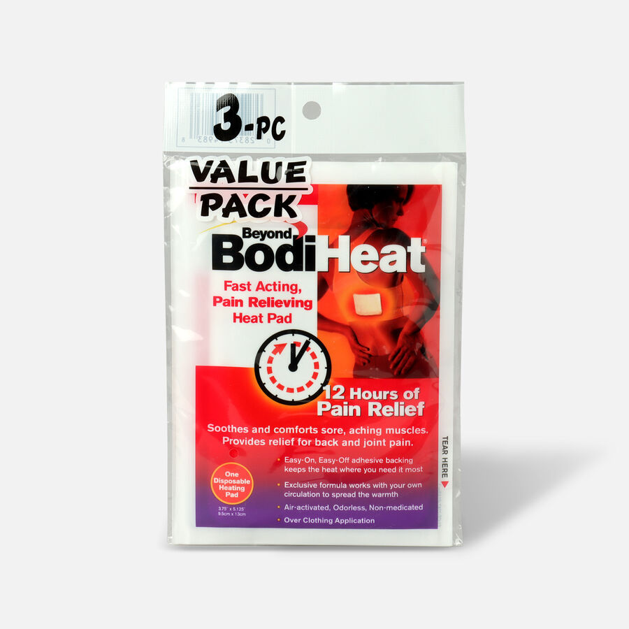 Beyond BodiHeat Fast Acting, Pain Relieving Heat Pads, 3 Pack, , large image number 0