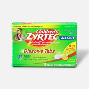Children's Zyrtec Allergy Dissolve Tablets, Citrus Flavored