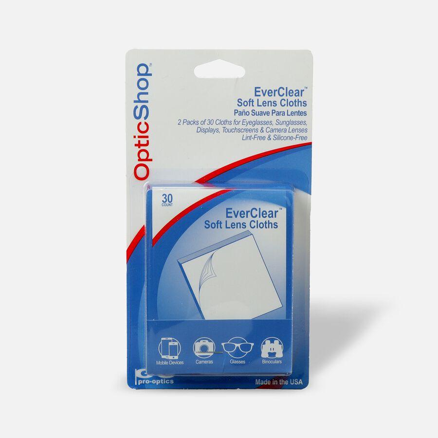 Optik Shop Ever-Clear Soft Lens Cloths, 30 ea (Pack of 2), , large image number 0