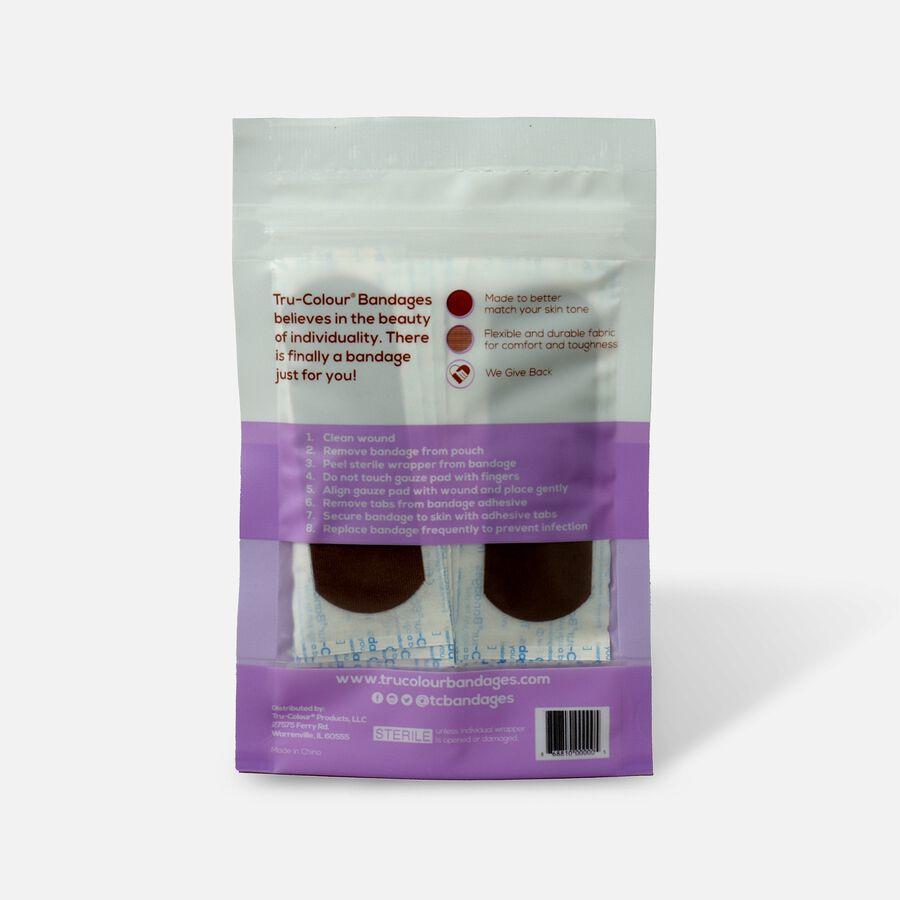 Tru-Colour Bandages Flexible Fabric Bandages, Dark Shade 30 ct, Dark, large image number 1
