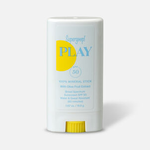 Supergoop! PLAY 100% Mineral Stick SPF 50 with Olive Fruit Extract, 0.67oz.