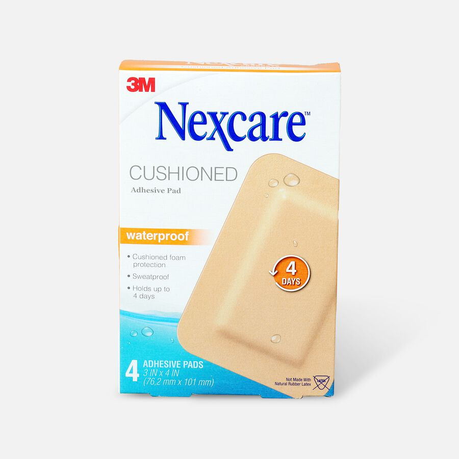 """Nexcare Absolute Waterproof Adhesive Pads, 3"""" x 4"""" - 4ct, , large image number 0"""