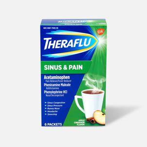 Theraflu Sinus & Pain Powder, Apple & Cinnamon, 6 ct