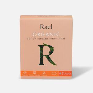 Rael Organic Cotton Reusable Panty Liners - Regular/Nude, 3ct