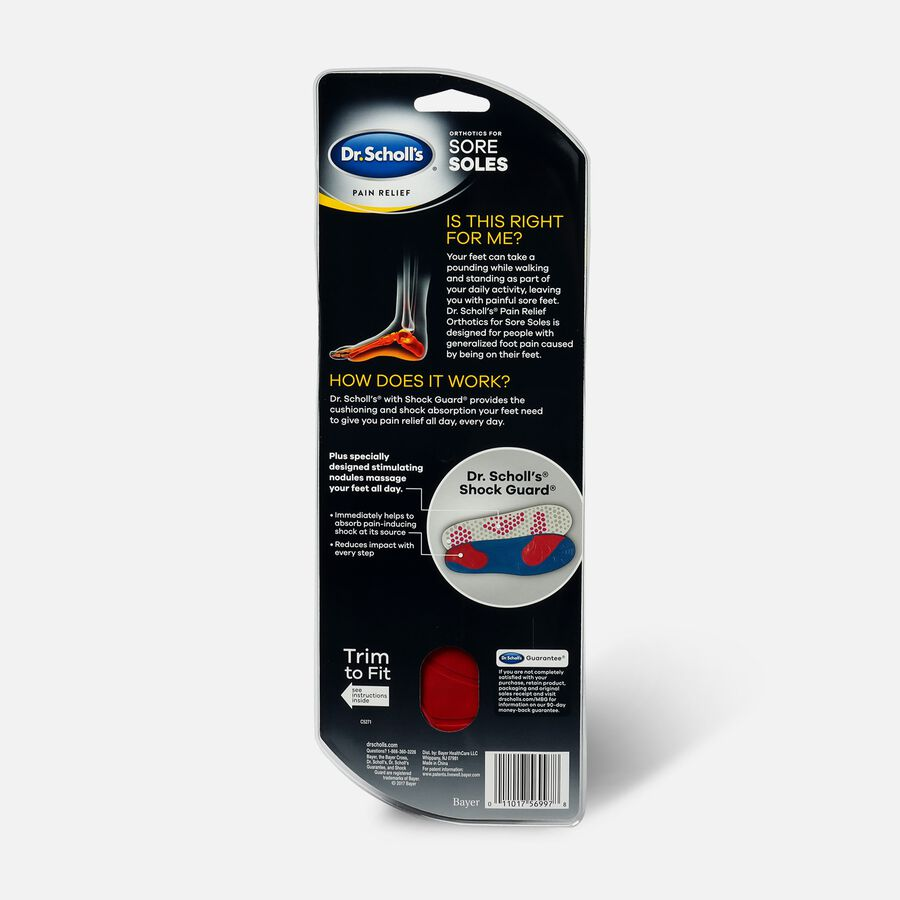 Dr. Scholl's Pain Relief Orthotics for Sore Soles for Women, One Pair, , large image number 1