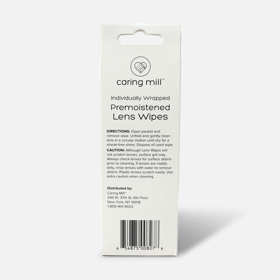 Caring Mill™ Pre-Moistened Lens Wipes, 30 count, , large image number 1