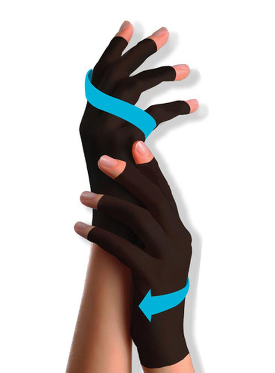 SKINEEZ Hydrating Unisex Compression Gloves - Gray, , large image number 2