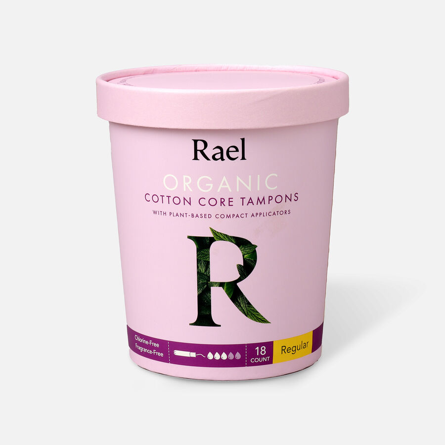 Rael Organic Cotton Core Tampons with Plant Based Compact Applicators, , large image number 0