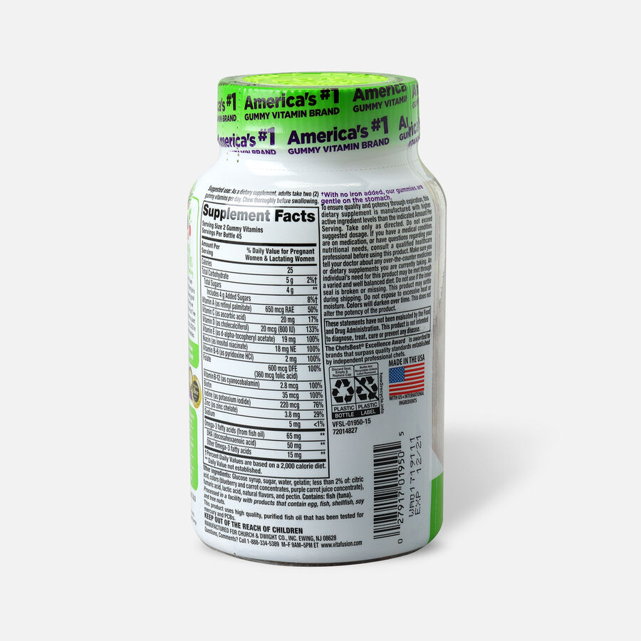 Vitafusion PreNatal Gummy Vitamins, Berry, Lemon and Cherry, 90 ea, , large image number 1