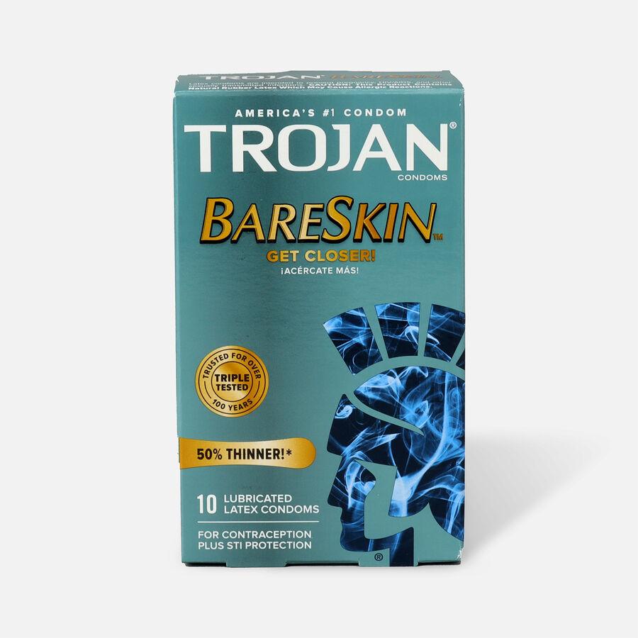 Trojan Sensitivity Bareskin Premium Latex Condoms, 10 Ea, , large image number 0