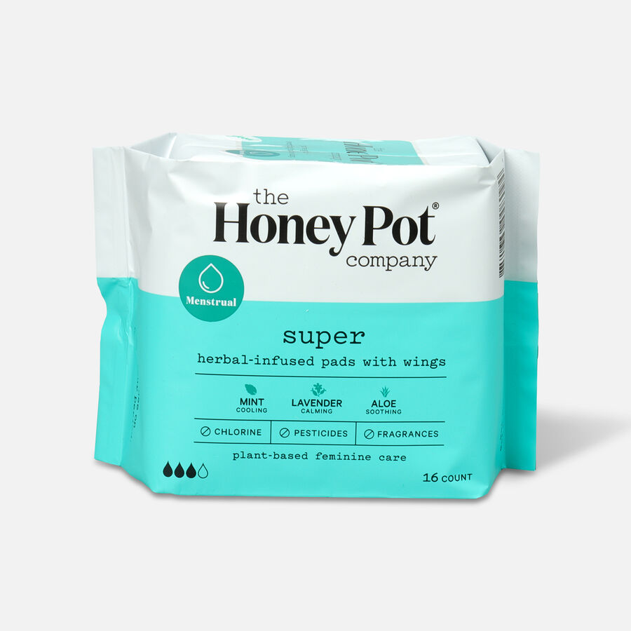 The Honey Pot Herbal Pads with Wings, , large image number 4