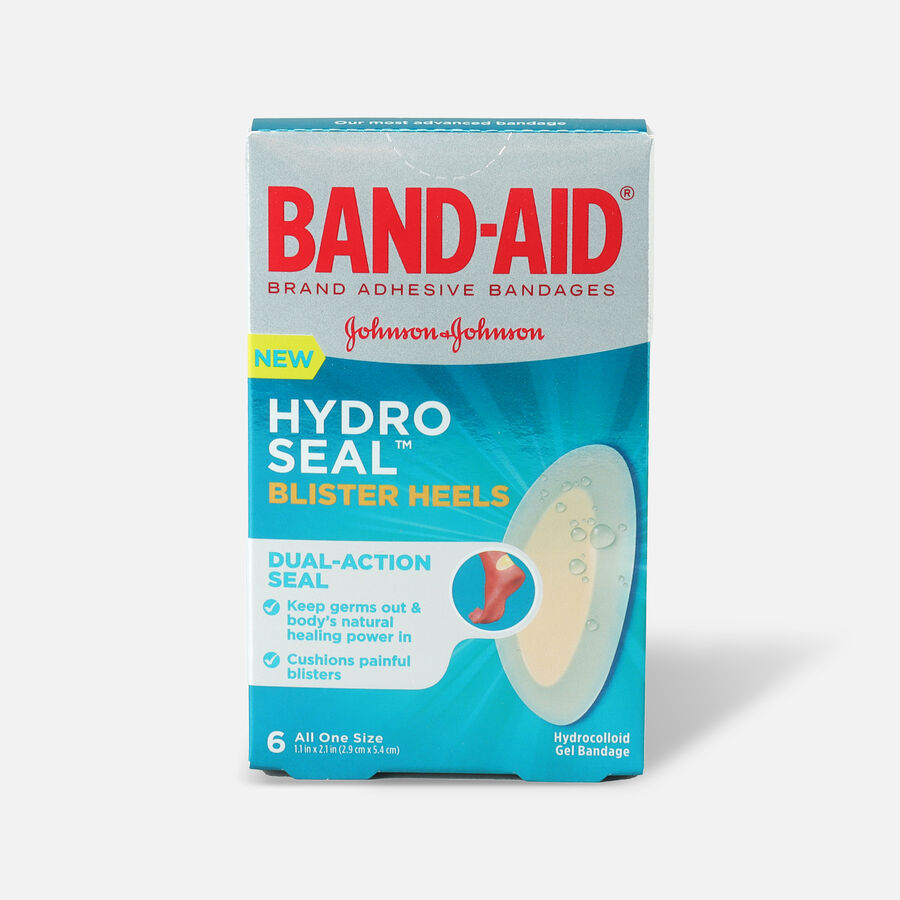 Band-Aid Hydro Seal Adhesive Bandages for Heel Blisters, 6 Count, , large image number 0