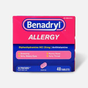 Benadryl Ultra Allergy Relief Tablets, 48 ct