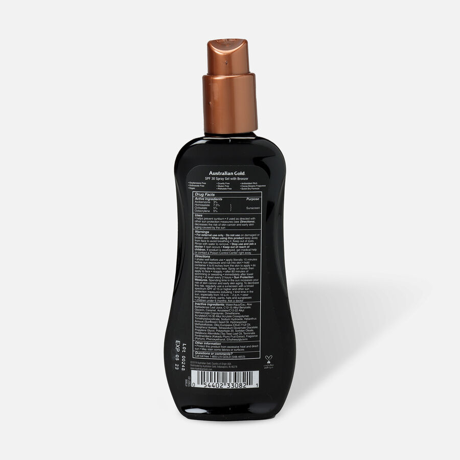 Australian Gold Spray Gel with Instant Bronzer, SPF 30, 8oz., , large image number 1