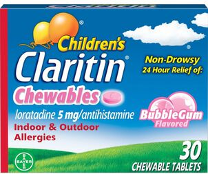 Claritin Children's Allergy Chewables, Bubblegum Flavor, 30 Count