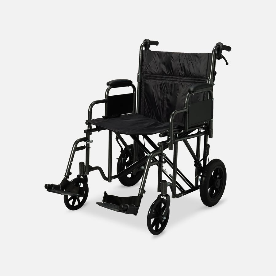 """ProBasics Bariatric Steel Transport Chair, Swing Away Footrests, 12"""" Wheels, , large image number 1"""