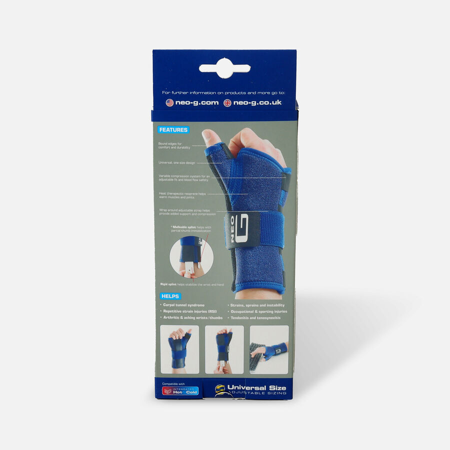 Neo G Stabilized Wrist & Thumb Brace - One Size - Right, , large image number 1