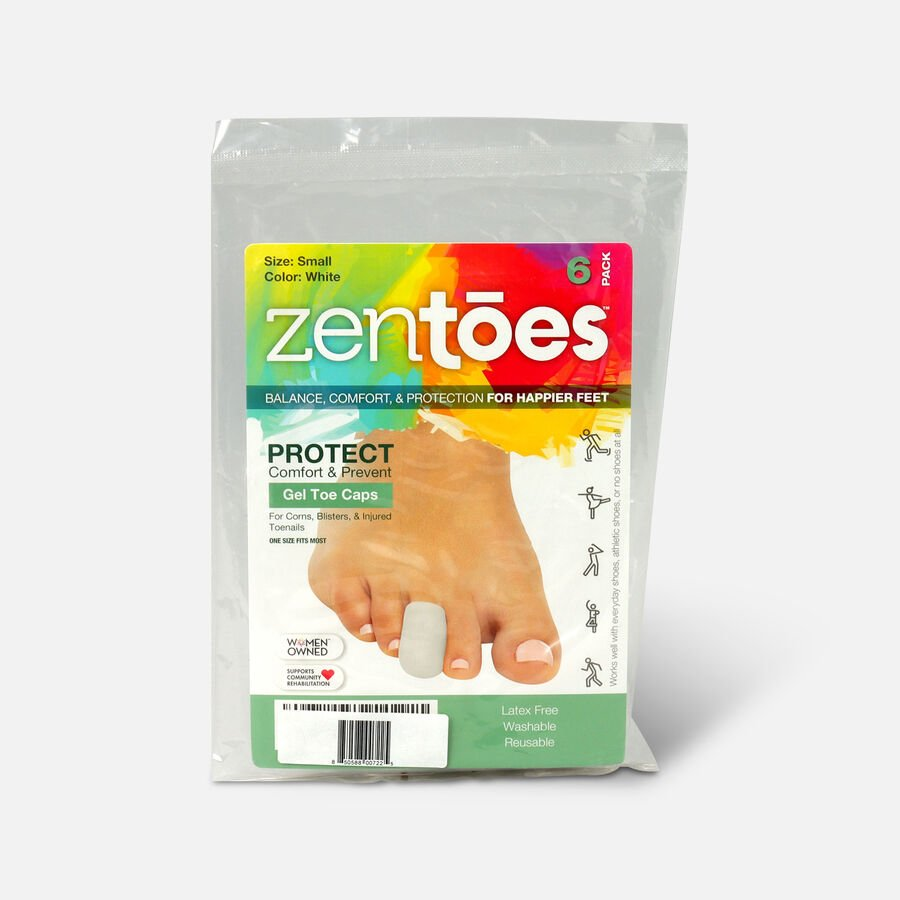 ZenToes Small Gel Toe Cap and Protector - 6 Pack, , large image number 2
