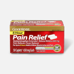 GoodSense® 8 Hour Pain Relief Acetaminophen Extended-Release Caplets, 650 mg, 50 ct