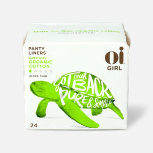 Oi Girl Organic Cotton Ultra Thin Panty Liners, 24ct