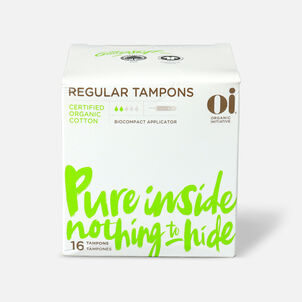 Oi Organic Cotton Tampons with BioCompact Applicator