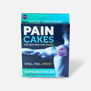 "PainCakes Stick & Stay Cold Packs, 5"", Purple"
