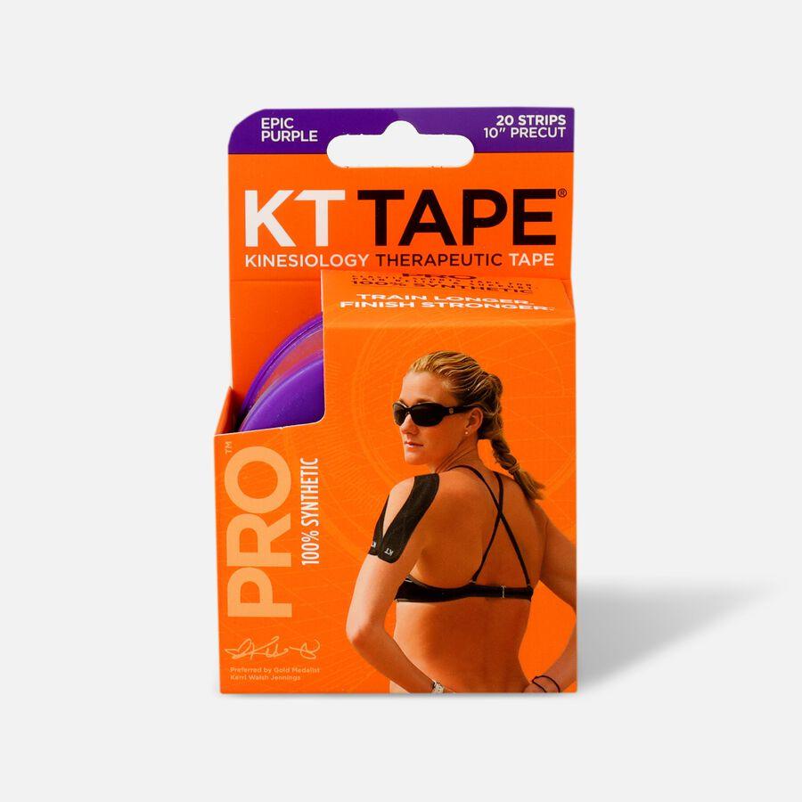 KT TAPE PRO, Pre-cut, 20 Strip, Synthetic, Epic Purple, Epic Purple, large image number 1