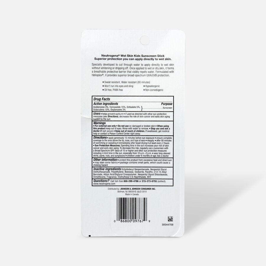 NEUTROGENA® Wet Skin Kids Stick Sunscreen Broad Spectrum SPF 70, 0.47 Oz, , large image number 1