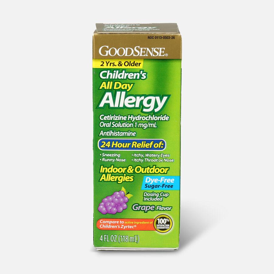 GoodSense® Child All Day Allergy Cetirizine 24-Hr Grape Flavor 4 fl oz , , large image number 0