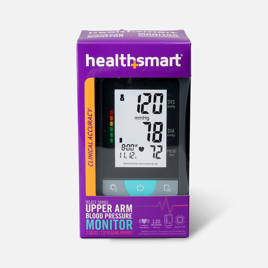 HealthSmart Upper Arm Blood Pressure Monitor with LCD Display, , large image number 0
