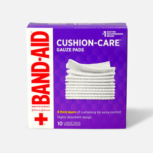 Band-Aid First Aid Gauze Pads 4x4, 10 ea