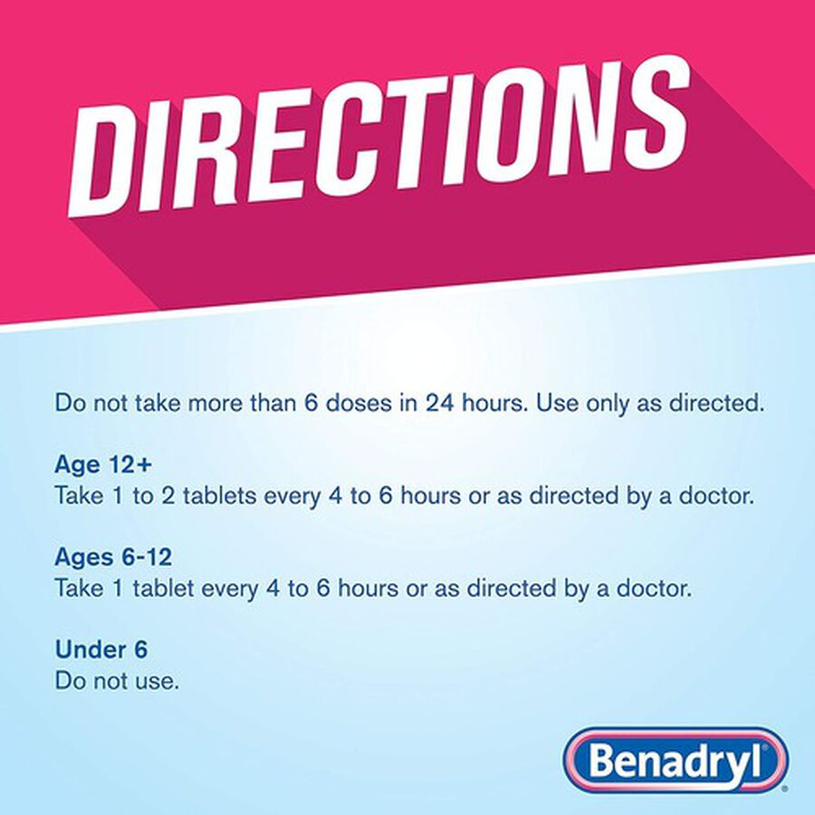 Benadryl Ultra Allergy Relief Tablets, 100 ct, , large image number 4