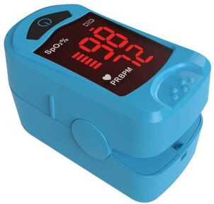 Carex Finger Pulse Oximeter Oxygen Saturation Monitor for Pediatric and Adult