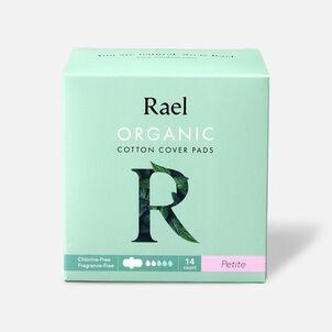 Rael Organic Cotton Ultra-Thin Pads, Petite Size, Light Absorbency, 14ct