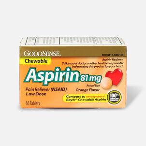 GoodSense® Aspirin 81 mg Low Dose Chewable Tablets Orange, 36 ct