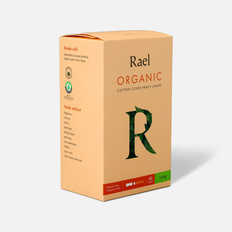 Rael Organic Cotton Cover Panty Liners - Long, , large image number 2