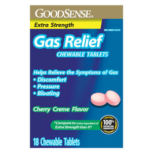 GoodSense® Gas Relief XS Simethicone 125 MG Chew Tab Cherry Crème, 18 ct