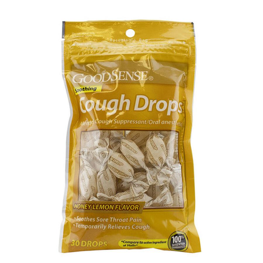 GoodSense Honey Lemon Cough Drops, 30 ct, , large image number 0