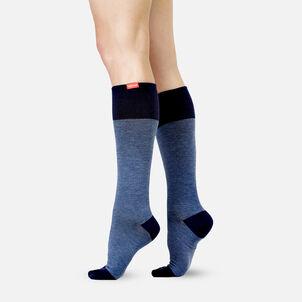 VIM & VIGR Cotton Socks, Heathered Collection Navy, 30-40 mmHg