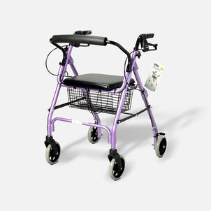 "Walkabout Lite Four- 6"" Wheels Rollator, Lavender"