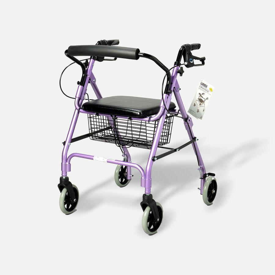 "Walkabout Lite Four- 6"" Wheels Rollator, Lavender, , large image number 0"