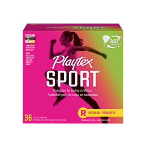 Playtex Sport Regular Tampons, Unscented, 36ct